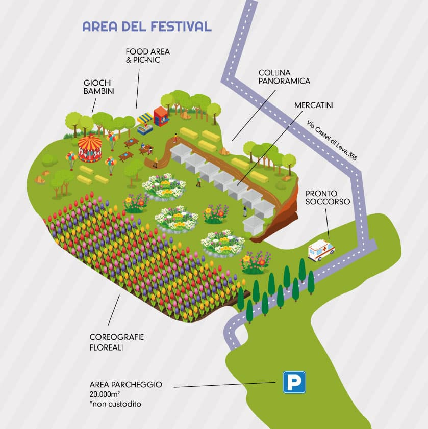 Mappa roma flowers park