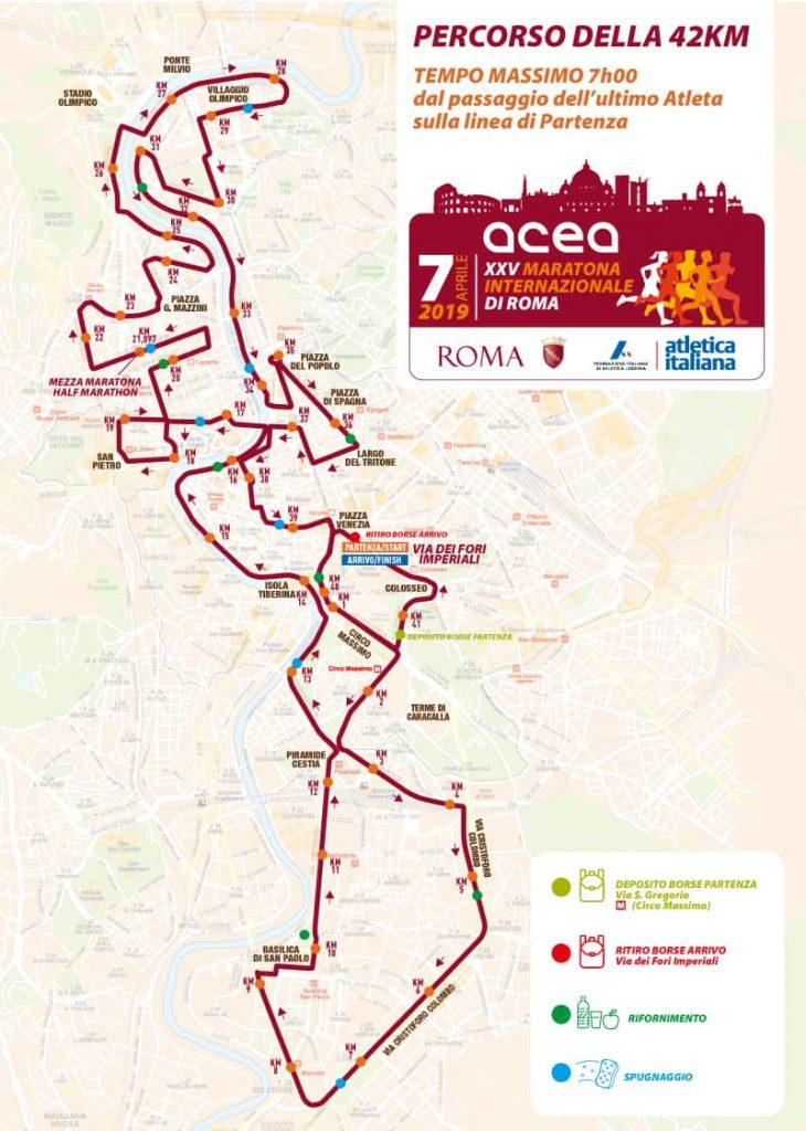 maratona di roma 2019 mappa