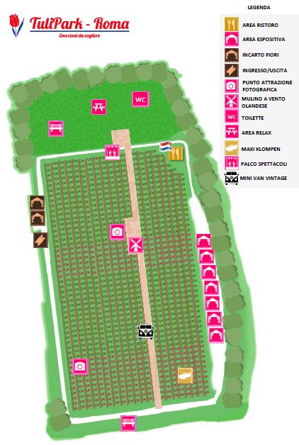 tulipark 2019 roma mappa