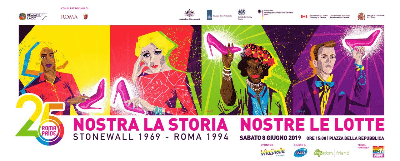 roma pride 2019 logo